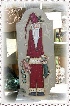 E PATTERN - Santa Joy - Olde Thyme Santa & Teddy Bear - New design - Terrye French and Sharon Bond - FAAP de skb007 en Etsy https://www.etsy.com/es/listing/118399784/e-pattern-santa-joy-olde-thyme-santa