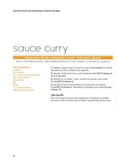 Les sauces - Thermomix - Vorwerk
