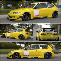 Top Performance Magazine: The Pandem Rocket Bunny wide body kit for the Honda Civic EG hatch is out and is smoking hot! Custom Hot Wheels, Custom Cars, Bmw E36, Supercars, E36 Coupe, Civic Eg, Honda Civic Hatchback, Wide Body Kits, Jdm Cars
