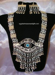 Belly dance jewellery featuring the Eye of Horus