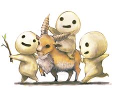"""yakul and the kodamas from """"princess mononoke."""" i love studio ghibli and hayao miyazaki!"""