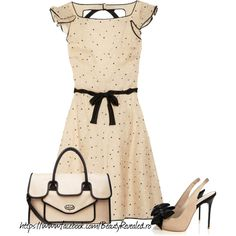 Polka-dot silk-blend dress by Valentino Looks Style, Style Me, Beautiful Outfits, Cute Outfits, Taupe Dress, Dress With Bow, Dot Dress, Ruffle Dress, Pink Dress
