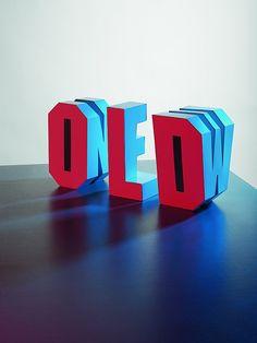3D Typografieskulptur / Old & New / Eye magazine