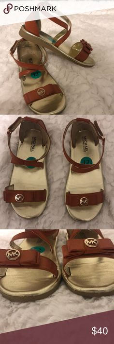MK Michael Kors girls sandals MK Michael Kors girls sandals. Original probably warn about 2-3 times. Nothing wrong with just grew out of them quick. KORS Michael Kors Shoes