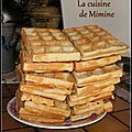 Grandfather s waffle Mimine s cooking Waffle Recipes, Cake Recipes, Hashbrown Waffles, Fluffy Waffles, Nutella Crepes, Food Tags, Flan, Granola, Biscuits