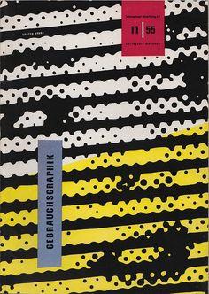 Cover for Gebrauchsgraphik, 1955 by Gunter Brand