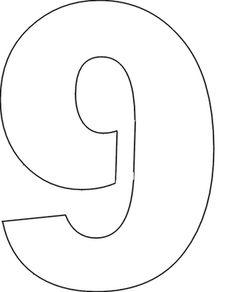 Free Printable Large Number Stencils #numberstencil | Kids ...