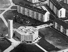 fuckyeahbrutalism:   St. Johannes Baptist, Karlsruhe-Durlach, Germany, 1962-65 (Rainer Disse & Immo Reinhold)