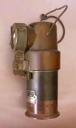 COPPER & BRASS MINERS LAMP ENGLAND 1930