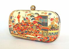 Box Clutch Minaudière Clamshell Purse Vintage Japanese by FABbyCAB