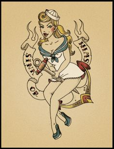 drawings of navy pin ups | anchor, girl, illustration, pin-up, sailor - inspiring picture on ...