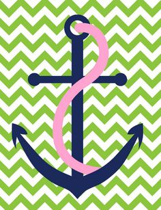 ⚓ my two favorite things, chevron and anchors <3