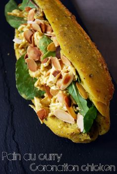 Very Easy Kitchen: Pain au curry, coronation chicken