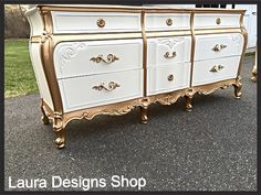 SOLD-French Provincial Dresser by LauraDesignsShop on Etsy