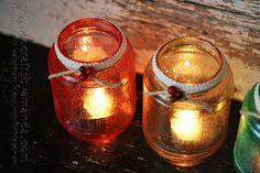 Glitter Christmas Luminaries