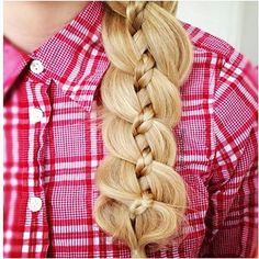 ❤ Pinterest : Zohha Saeed  Four strand braid.