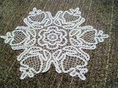 My work, Bruges lace doily finally finished