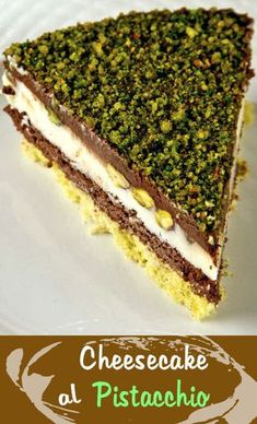 Ricotta, Sweet Recipes, Cake Recipes, Dessert Recipes, Torta Angel, Yummy Treats, Delicious Desserts, Pistachio Recipes, Gourmet