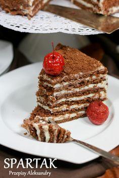Przepisy Aleksandry: TORT SPARTAK (czekoladowo-serowy) Polish Desserts, Polish Recipes, Waffle Cake, Cake Business, Wedding Cakes With Cupcakes, Food Cakes, Cupcake Recipes, Yummy Cakes, Baked Goods