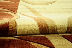 Dywan ręcznie wycinany Wstęgi na prostokącie brąz. Nowoczesny dywan Heat Set w kolorze brązowym.