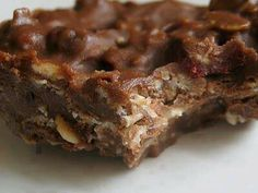 Chocolate oatmeal peanut butter coconut no-bake candy bars