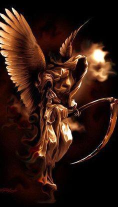 Gothic Art ~ Angel of Death Grim Reaper Art, Don't Fear The Reaper, Dark Angels, Angels And Demons, Dark Fantasy Art, Dark Art, La Santa Muerte Tattoo, Ange Demon, The Grim