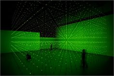 MATRIX II, 2000/05 Light Installation with Green LEDs by Erwin RedlLos - Angeles Museum of Contemporary Art