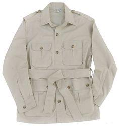 Safari Jacket Mens Stone M thru 2XL 100% Cotton #TagSafari #SafariJacket