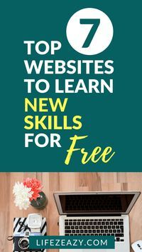 New skills to learn online Pinterest pin