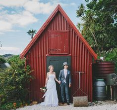 The cutest couple in front of the cutest shed. . . . . #whangareiweddingphotography #russellwedding #northlandweddingphotographer #northlandweddings #shed #weddingshed