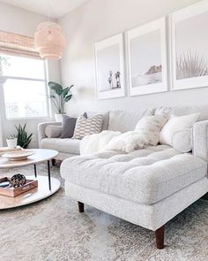 Sven Birch Ivory Right Sectional Sofa Dining Room Decor decorating small living room dining room combination Design Living Room, Cozy Living Rooms, Home Living Room, Living Room Apartment, White Apartment, Apartment Sofa, Apartment Furniture, Living Room Decor For Apartments, Living Room With Windows