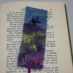 Embroidered and Felted Bookmark Moorland by Lynwoodcrafts on Etsy, £7.00