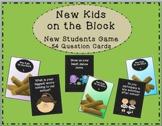 New Kids on the Block Cards used with a Jenga game, provide a fun activity for students to get to know each other better and feel welcome at their new school. The set includes 54 unique question cards and can be used with the Jenga game or just as a card game.