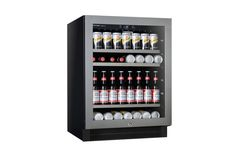Make sure you're ready for anything with this Single Zone cooler from Vintec. Chill up to 100 cans or bottles at once and enjoy the view while you're at it with its seamless stainless steel & glass door and blue LED internal lighting. Glass Door, Wine Rack, Led, Canning, Bottle, Storage, Home Decor, Purse Storage, Decoration Home
