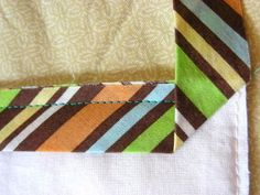 Binding out around the quilt to make sure that no bulky seams end up right where you will be mitering corners