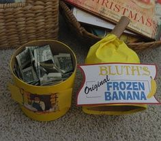"""Best piggy bank, ever. """"There's always money in the banana stand!"""""""