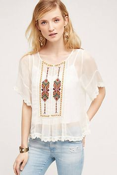 Explore new Summer tops at Anthropologie, from everyday classics to one-of-a-kind styles. Winter Outfits, Summer Outfits, Casual Outfits, Cute Outfits, White Lace Blouse, Summer Blouses, Blouse Outfit, Spring Summer Fashion, Blouses For Women