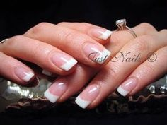 These will be the nails for both the bridesmaids and Jennifer to keep everything classy and elegant.
