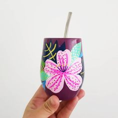 Que tengan un hermoso dia ! 🌺 #juanitalaprida  #mateslaprida Slab Pottery, Pottery Mugs, Cactus Clipart, Painted Rocks, Hand Painted, Flower Pot Design, Posca, Abstract Flowers, Surface Pattern Design