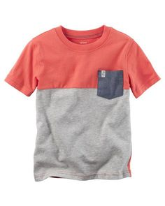 Baby Boy Colorblock Pocket Tee from Carters.com. Shop clothing & accessories from a trusted name in kids, toddlers, and baby clothes.