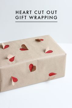 Heart cut out wrapping paper