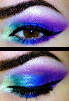 Eye Makeup Tips – How To Apply Eyeliner – Makeup Design Ideas Blue Makeup, Makeup For Brown Eyes, Pretty Makeup, Simple Makeup, Makeup Looks, Pretty Nails, Eye Makeup Tips, Beauty Makeup, Hair Makeup