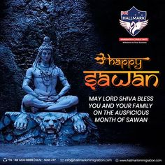 May Lord Shiva Bless you with happiness, success, peace, and prosperity this Sawan.  Team Hallmark wishes you Happy Sawan 2020!  #Hallmark #HallmarkImmigration #ImmigrationConsultants #HappySawan2020 #Sawan2020 #LordShiva #Bless #Pray #Gift #Monday #Happiness #Success #Peace #Prosperity #HappySawan #SawanSomvar #SawanMonth2020 #Sawan Sawan Month, Lord Shiva, Are You Happy, Pray, Wish, Blessed, Happiness, Success, Movie Posters