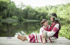 Belarussian Traditional Costume photoshoot with my son