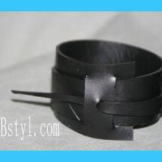Bracelet manchette homme 1 pièce en  chambre à air recyclée