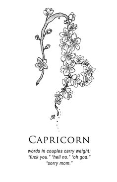 Capricorn horoscope drawing