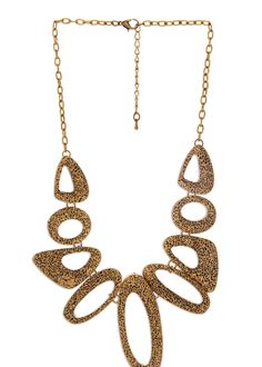 Trending gold geometric princess-style-necklaces best for parties  via @Roposo