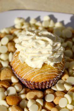 White Chocolate Macadamia Nut Cupcakes!