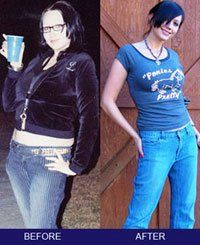"""VEGAN BEFORE & AFTER LEAH. """"It's the easiest 'diet' I've ever been on—I saw results right away.""""    Before: 200+ pounds, size 16  After: 134 pounds, size 6"""