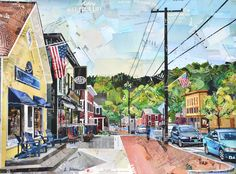 Town of Stowe Vt. Art made entirely from recycled paper